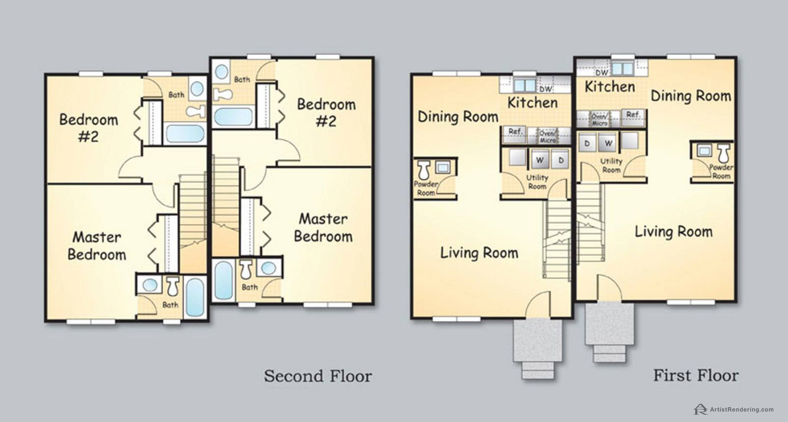 Color Floor Plans