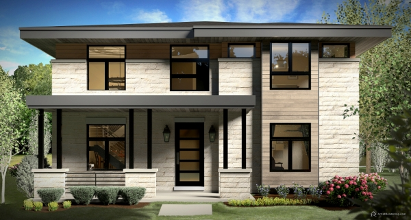 1166 S York Street Front Elevation Rendering